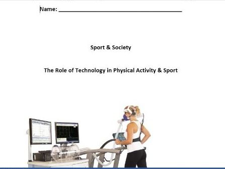 New AQA PE A Level. The Role of Technology in Physical Activity & Sport - Pupil Workbook.