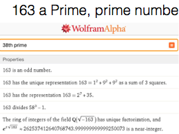 Euler's prime number Generator and 163