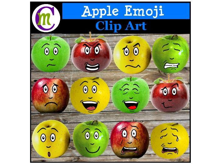 Apple Emoji Clipart | Expressions Clip Art | Emotions