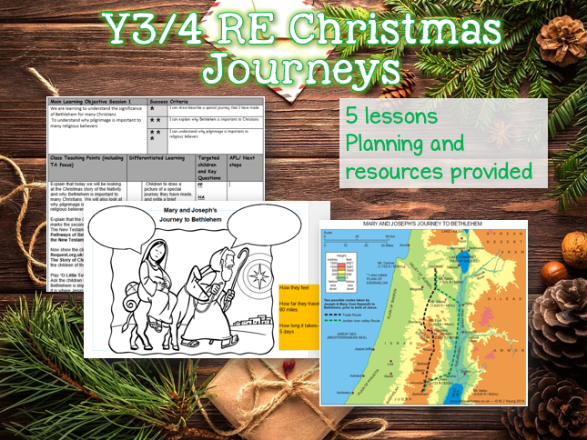 LKS2 RE The Christmas Journey Planning - 5 lessons