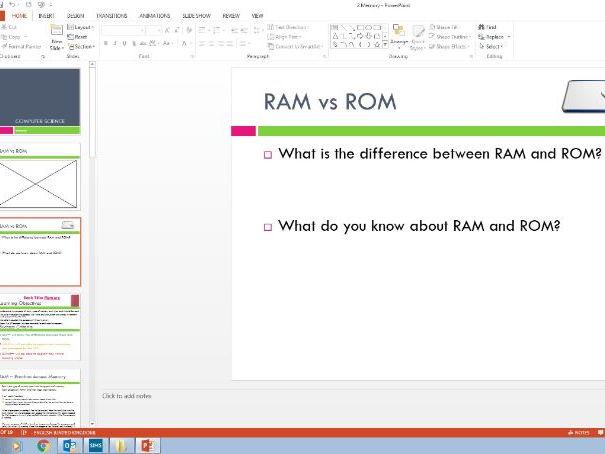 Memory in a computer - RAM vs ROM