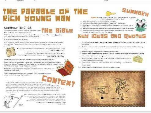 Parables of Jesus: Rich Young Man - Story, Themes, Importance and Context