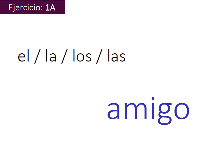 Spanish Grammar -Nouns and articles  with 20 Interactive exercises