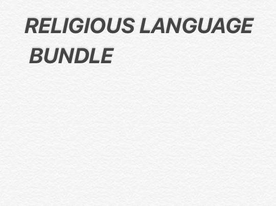 RELIGIOUS LANGUAGE BUNDLE PACK