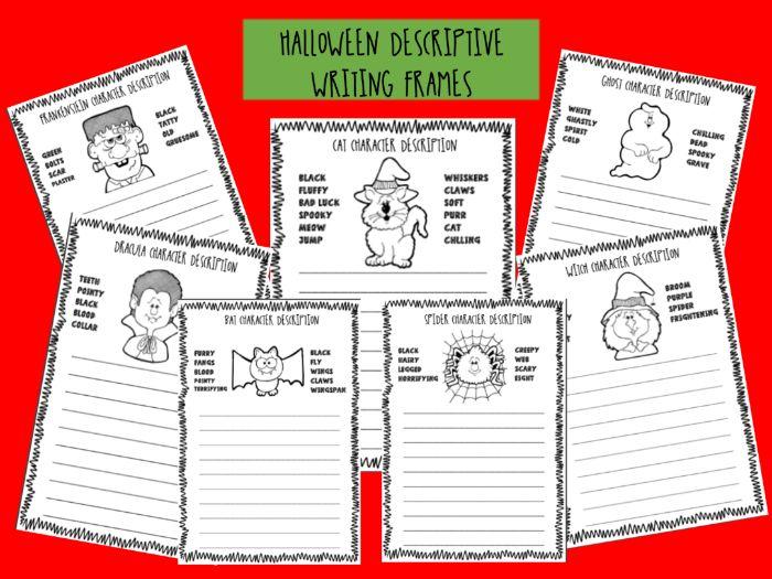 HALLOWEEN - character descriptions - descriptive writing