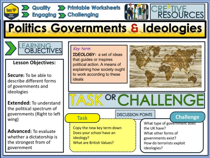 Politics Governments + Ideologies