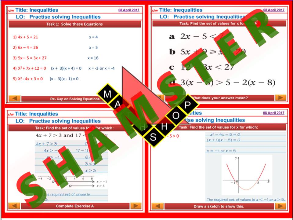 Inequalities Revision
