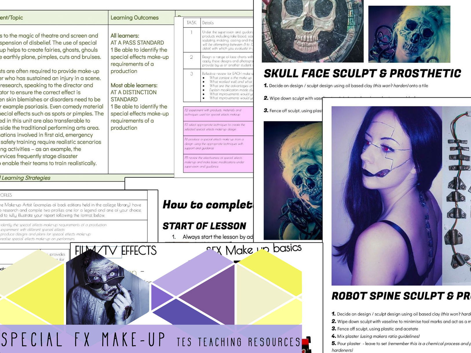 SFX MU Special Effects Make-up |  FULL PACK - SOW, assignments & resources BUNDLE