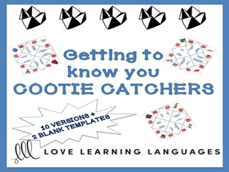 Cootie catchers - Getting to know you activity