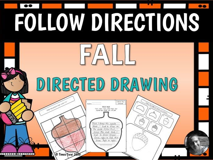 Fall Directed Drawing with Writing Activity