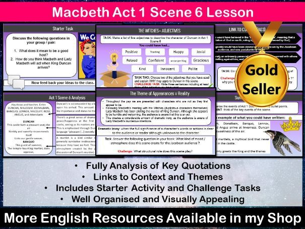 Macbeth Act 1 Scene 6 Lesson