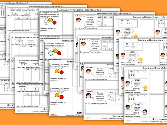 Year 3 100s, 10 and 1s WRMH Place Value Reasoning and Problem Solving Pack