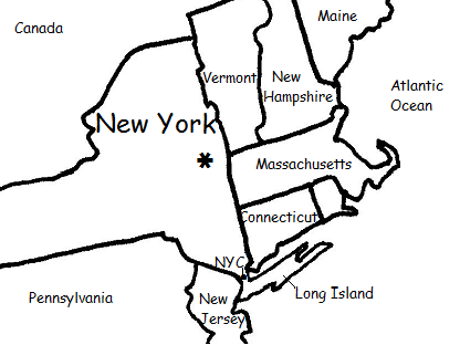New York - Printable Geography Worksheets - Interactive Notebook Activity