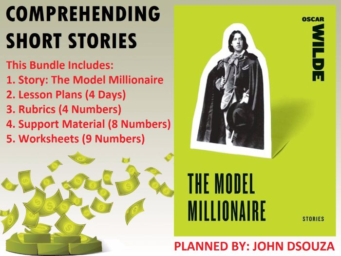 THE MODEL MILLIONAIRE - READING PROSE: UNIT LESSON PLANS AND RESOURCES