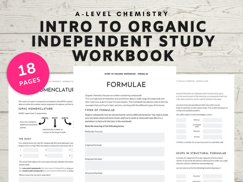 A-level Chemistry self study workbook Intro to Organic