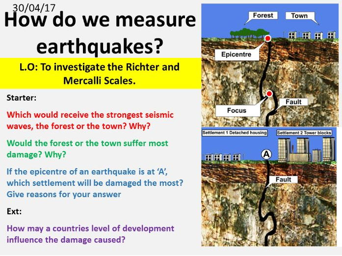NEW OCR GCSE -Natural Hazards: Measuring earthquakes
