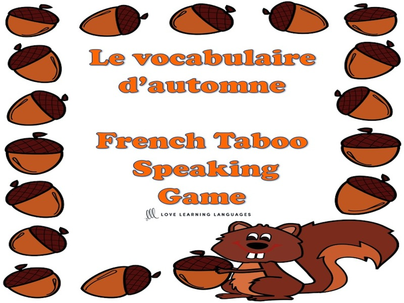 GCSE FRENCH: Vocabulaire d'Automne - French Fall Vocabulary Taboo Game