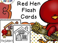 Little Red Hen Vocabulary Cards