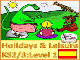 SIX LESSON PRIMARY KS2/3 SPANISH UNIT: Sport, leisure, hobbies, past-times, week days, diary etc.