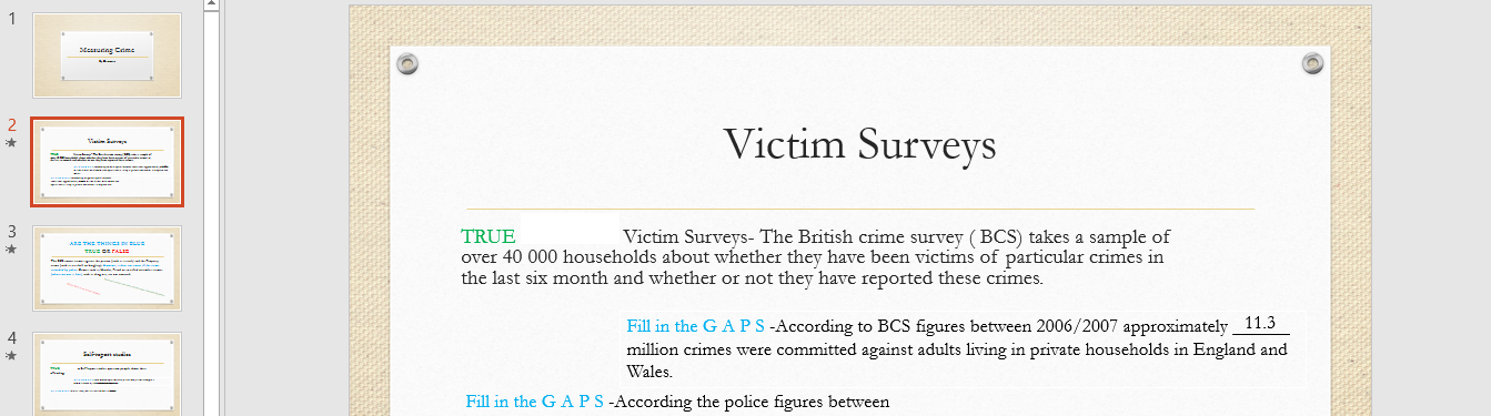 Measuring crime interative powerpoint