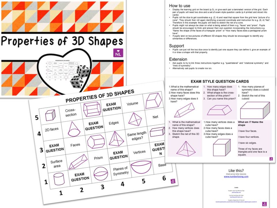 Properties of 3D Shapes (Learning Grids)