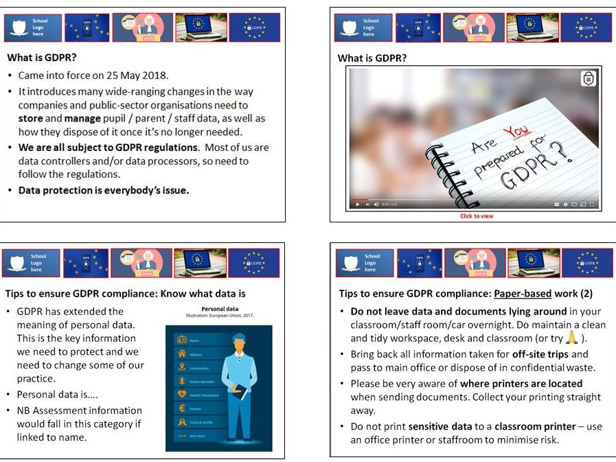 GDPR guidance for teachers INSET / CPD session: top tips and practical strategies for compliance