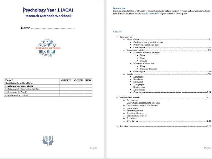 Research Methods 5 Student Workbook