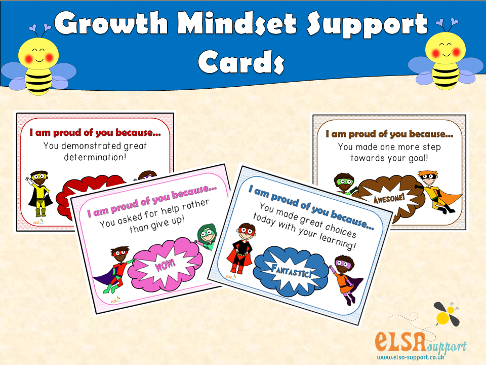 ELSA SUPPORT Growth Mindset Support Cards - PSHE, SOCIAL AND EMOTIONAL, POSITIVITY