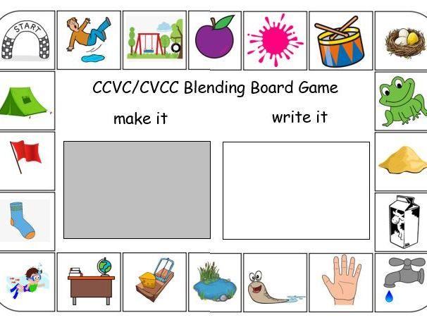 CCVC/CVCC Blending Board Game