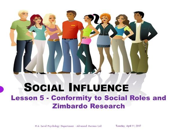 Powerpoint - Social Influence - Lesson 5 - Conformity to social roles as investigated by Zimbardo.