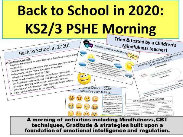 Back to School 2020: PSHE w/ Mindfulness