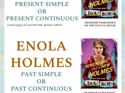 Enola Holmes on Netflix - Authentic grammar practice BOOM CARDS