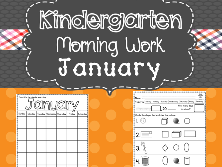 Kindergarten Morning Work (January)