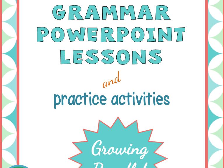 Grammar PowerPoint and Activities Bundle