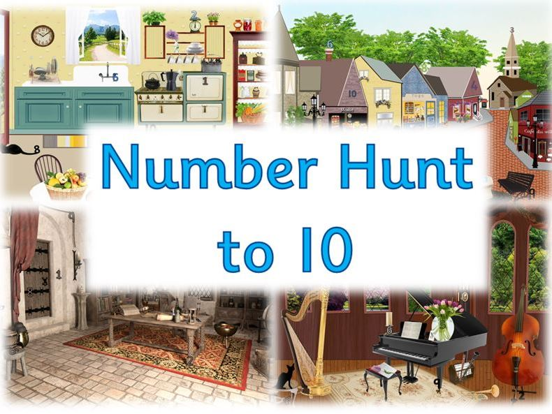 Number Hunt to 10 - Numeral Recognition Activity