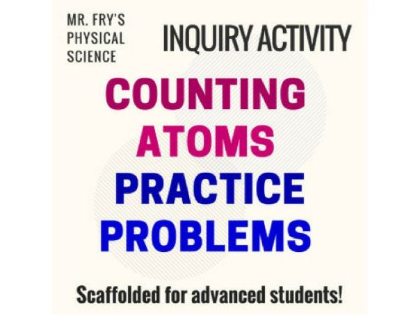 Counting Atoms Practice Problems