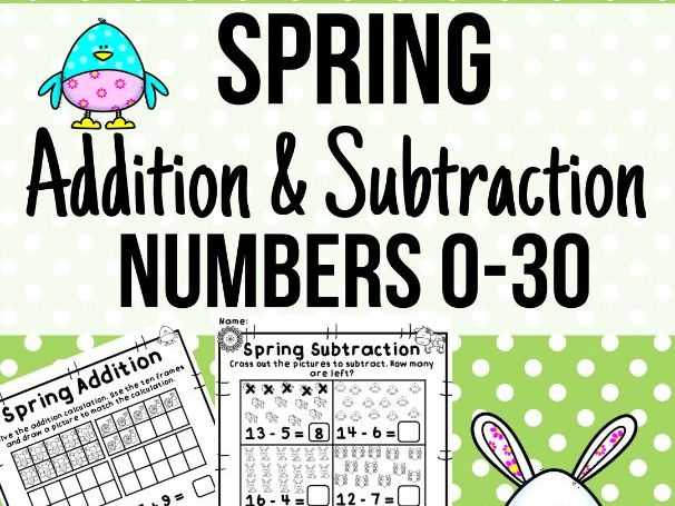 Spring Addition & Subtraction Activities