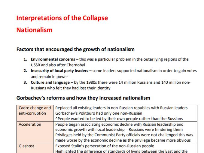 Edexcel A-level History Russia 1917-85 - Theme 5