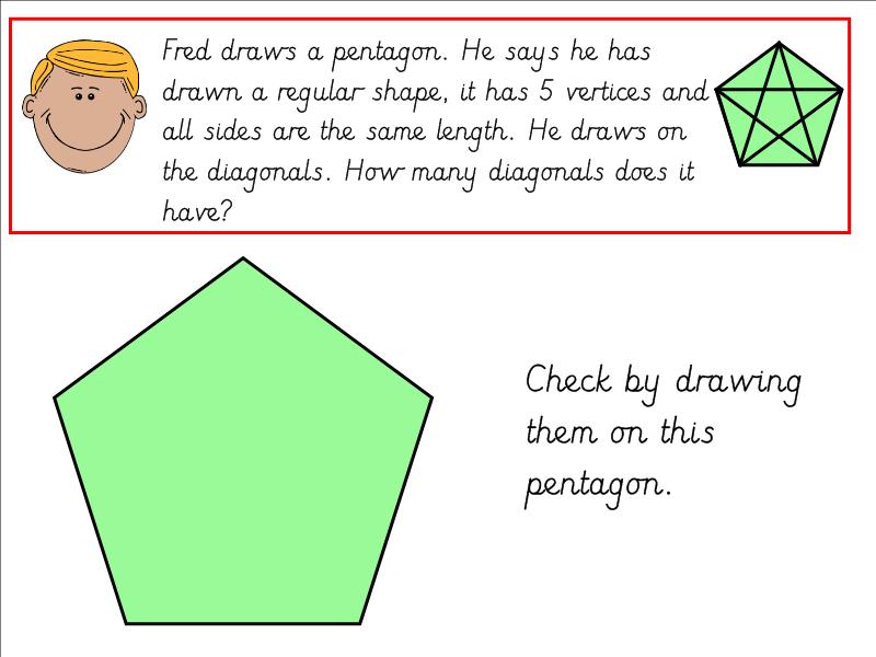 2D Shape Properties Diagonals