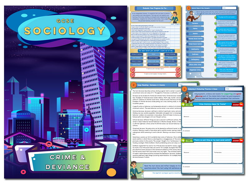 GCSE Sociology Workbook - Crime & Deviance