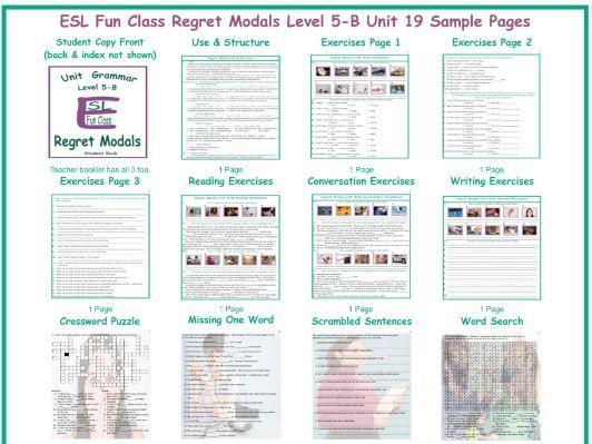 Regret Modals Level 5-B Unit 19