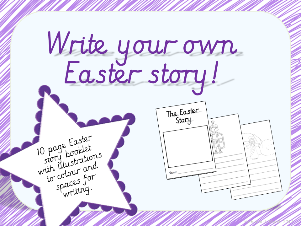 Write your own Easter story booklet