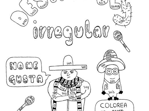 Color by conjugation SER Spanish Despicable Me no prep practice