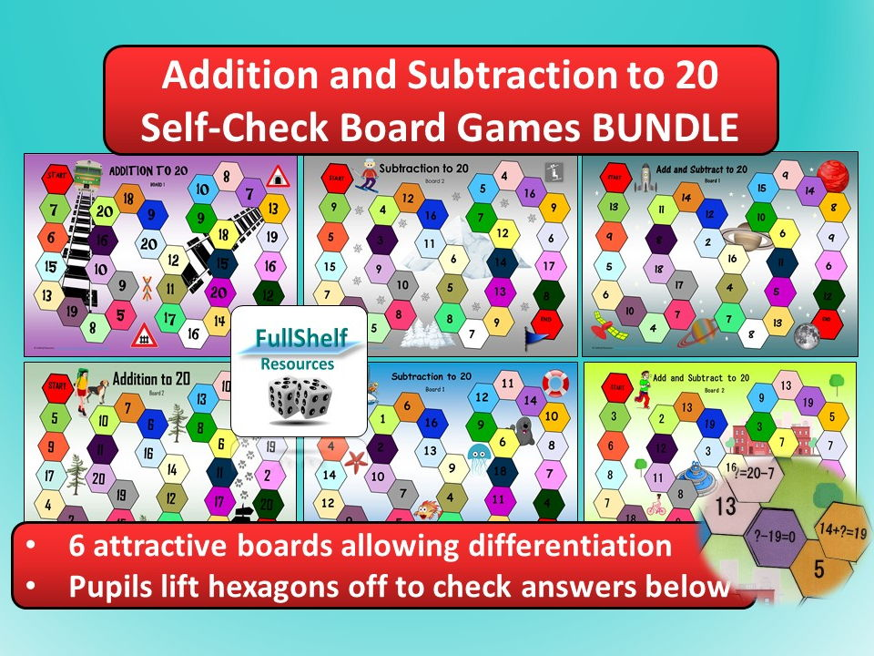 Addition and Subtraction to 20 Games BUNDLE