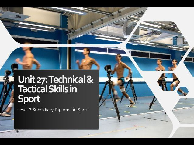 Technical & tactical skills in sport
