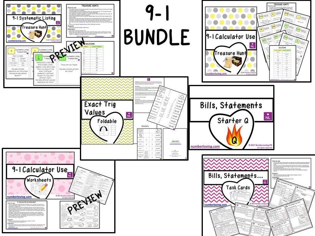GCSE 9-1 Maths Bundle