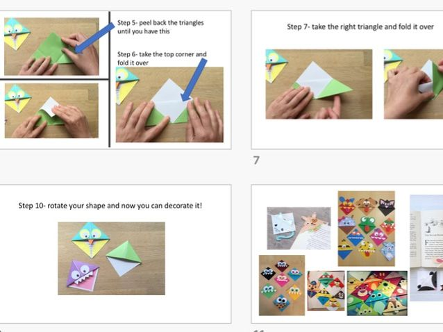 Making Bookmarks step by step PowerPoint Reading