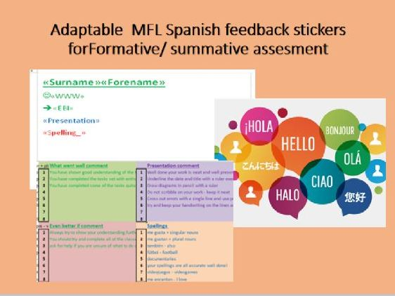 MFL Marking Feedback stickers