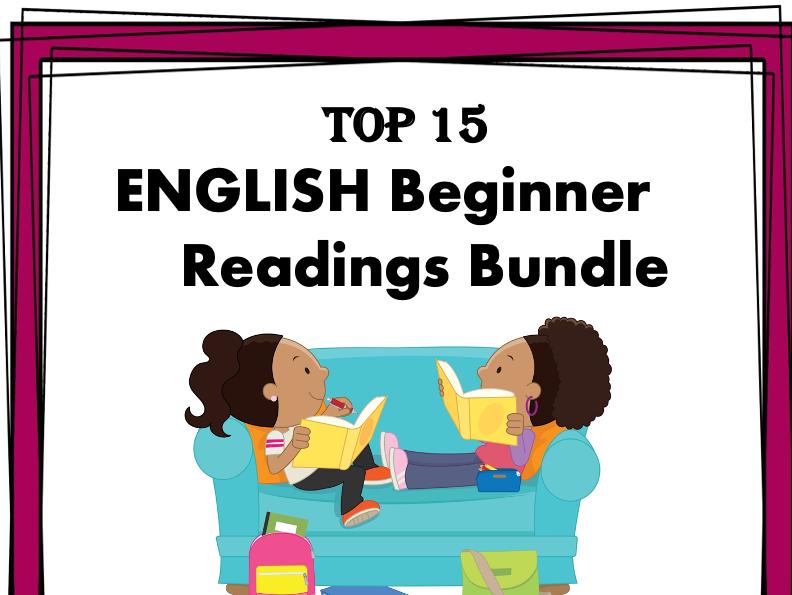 TOP 15 English Beginner Readings at 50% off! (ESL/EFL)