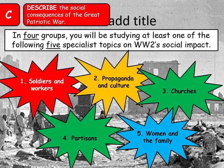 AQA A-Level Tsarist & Communist Russia Lesson 84 (Impact of War 2)